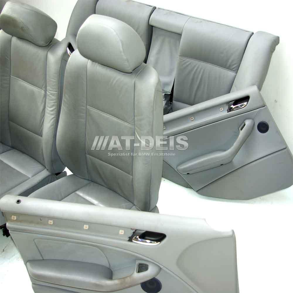 bmw e46 3er limo lederausstattung grau manuel shz sitze klabbar ebay. Black Bedroom Furniture Sets. Home Design Ideas