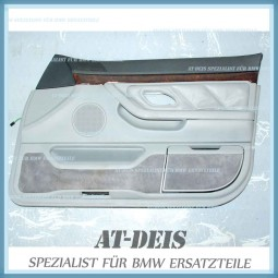 BMW E38 7er Türverkleidung Leder VR Grau 8178382