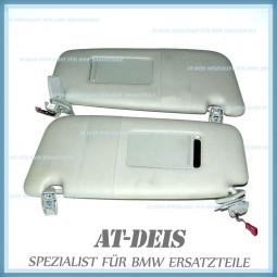 BMW E60 E61 5er Sonnenblenden Schminckspiegel L+R Grau 7066649 7066650