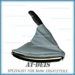 BMW E46 3er Handbremssack Handbremshebelabdeckung Leder Grau 8248363