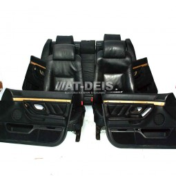 BMW E38 7er EL. Lederausstattung Schwarz Wasserbüffel Komfort SHZ